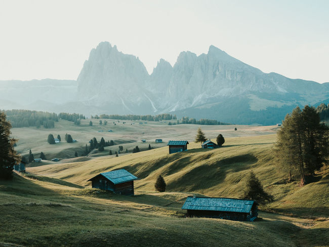 A hazey sunset over Alpe di Suisi, Italy. Week On Eyeem Alpe Di Siusi Dolomiti Dolomites, Italy Aerial View Dji Dramatic Sky Drone Photography Autumn Mountain Environment Landscape Mountain Range Outdoors Beauty In Nature Travel Destinations Nature Mavic Pro 2 Sky Sunset Autumn Mood A New Perspective On Life