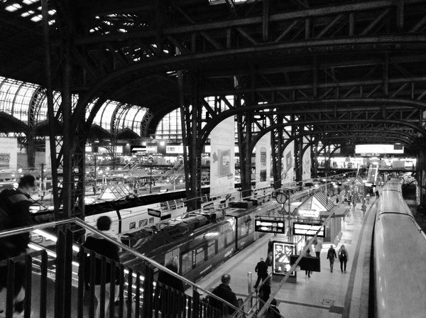 Black And White Photography Peoplephotography Amazing Architecture Railwaystation Ilovehamburg Check This Out