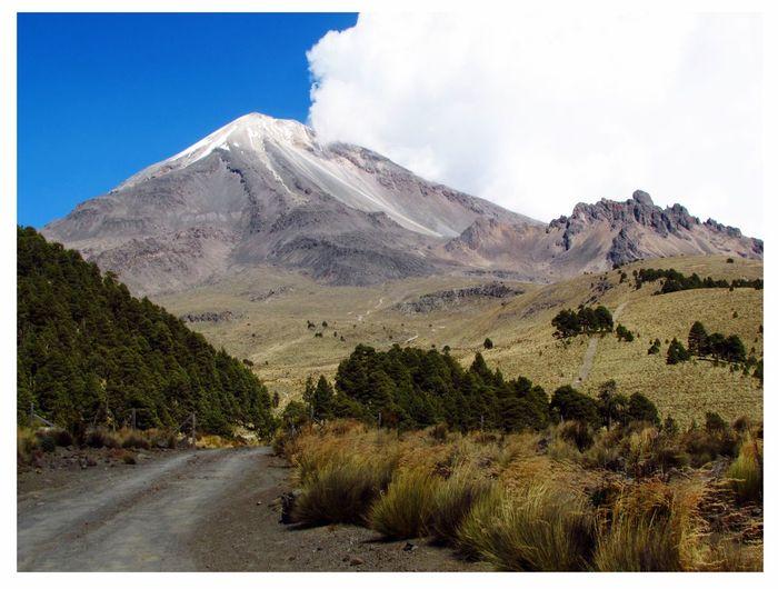 Majestic view of pico de orizaba