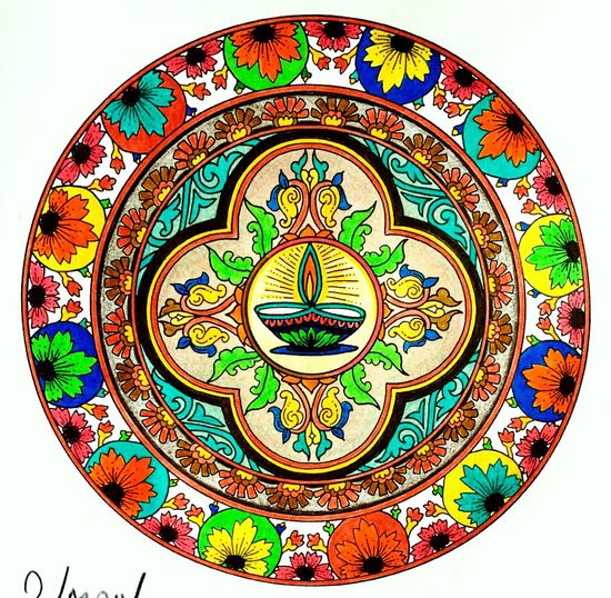 Hello World Relaxing Enjoying Life Having Fun Happiness ❤ Gratitude Peaceful Coloreando Mandala Mandala Art Draw Drawing Coloring Mandalas!  Coloring