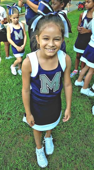 Real People EyeEm Selects Childhood One Person Front View Smiling Girls Happiness People Child Daughterlove Cheerleading Cheerleading♡ Cheerleading Competition Cheerlife