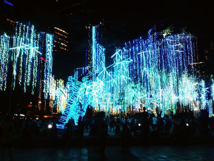 How I miss the lights show in Ayala Triangle. It brings out the kid in me, waiting every year to see beautiful, sparkling Christmas lights. I will see you again on December. :) Night Lights Photooftheday