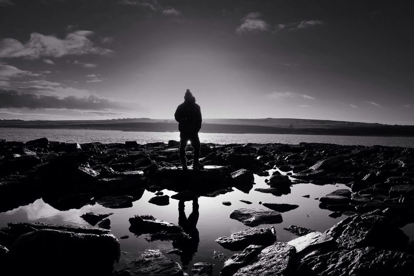 Reflecting moments in the sunshine. North coast of Scotland Black And White Blackandwhite EyeEm Best Shots - Black + White Bw_collection