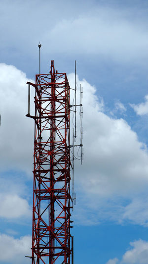 Silhouette image of telecommunications tower Wireless Telecommunications Tower Of Montjuïc Broadcast Broadcasting Cloud - Sky Communication Connection Digital Equipment Global Communications Microwave Mobile Network Tall - High Technology Tower Wireless