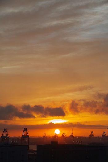 Sunset Sky Cloud - Sky Water Sea Orange Color Beauty In Nature