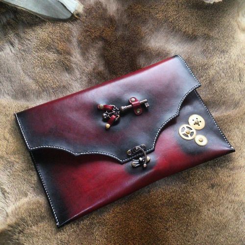 Leather clutch Leather Craft heretik Handmade