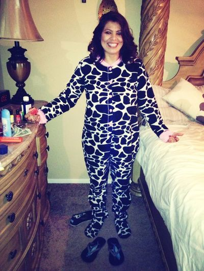 My Cow Of A Mother In A Onesie .-.