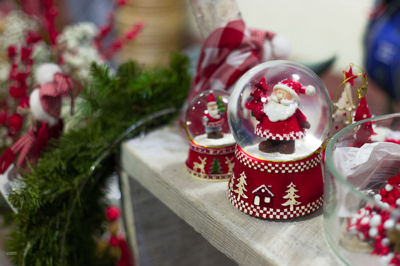 Christmas Christmas Decorations Festive Red Retail  Santa Seasonabl Seasonal Snow Globe Xmas Xmas Decorations Xmas Tree