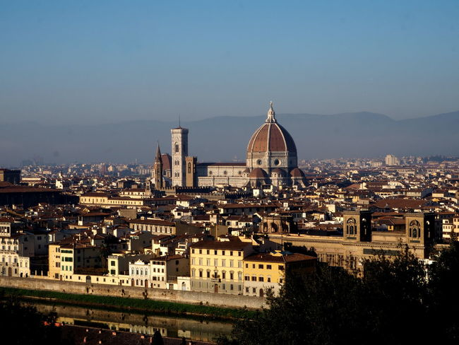 panorama of Florence, cathedral of florence Architecture Basilic Bridge Buildings Cathedral City Florence Holy Cross Italy Italy4fun No People Outdoors Picoftheday Pitti Pitti Palace Santa Croce Seagulls Sky Sky And Clouds The Medici Family Tuscany Uffizi Uffizi Gallery Vasari Corridor Water