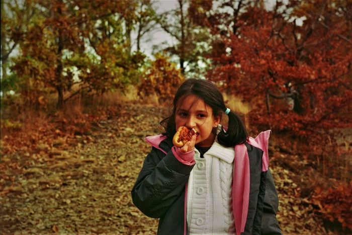 Luca. Exa1a Child Children Autumn One Person Young Women People Outdoors Long Hair Lifestyles Tree Nature Outdoorshot Exa1a Analog Photography Film Photography Hungary Beauty EyeEmNewHere Autumn Nature Portrait Mátra Mountain Day Forest Mountain