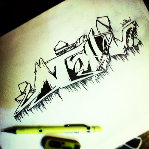 "تقدیم به دختر دایی عزیزم :) ""MISHEL"" . . @hesamgbey @mahsa_mos @_quse . . Graffiti Graff Pencil Earaser Paper With Love Mishel Cat Girl Dokhtar Daii Nice"