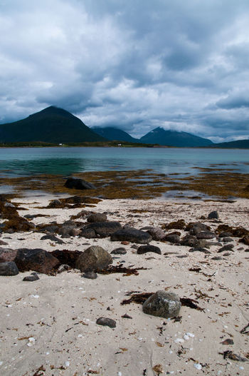 Norway Beach Beauty In Nature Cloud - Sky Day Mountain Nature No People Scenics Sky Stones Water EyeEmNewHere