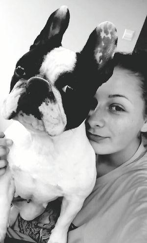 Girl Poland Polishgirl Taking Photos Lovely Dog Big Love Frenchbulldog 💕