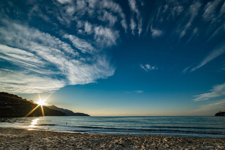 Atmosphere Atmospheric Mood Beauty In Nature Biodola Cloud - Sky Cloudy Dramatic Sky Mare Outdoors Scenics Sea Sea And Sky Sky Sun Sunset Tranquil Scene
