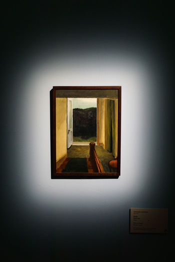 Art Gallery Edward Hopper Illuminated Indoors  No People Oil Painting Painting Shadows & Lights