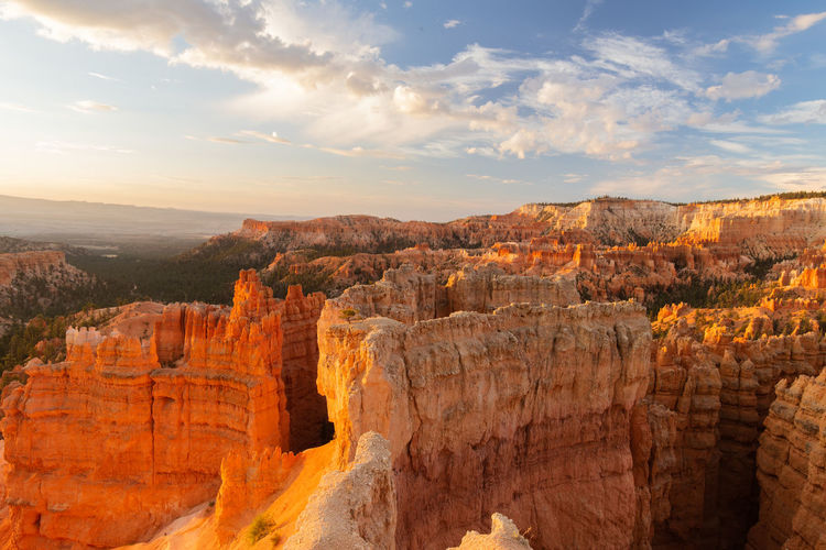sunrise at Bryce Canyon Beauty In Nature Scenics - Nature Non-urban Scene Rock Tranquil Scene Rock Formation Tranquility Rock - Object Travel Destinations Physical Geography Travel No People Geology Outdoors Eroded Bryce Canyon Sunrise Cloud - Sky Landscape Canyon Environment Idyllic Arid Climate Formation Sandstone