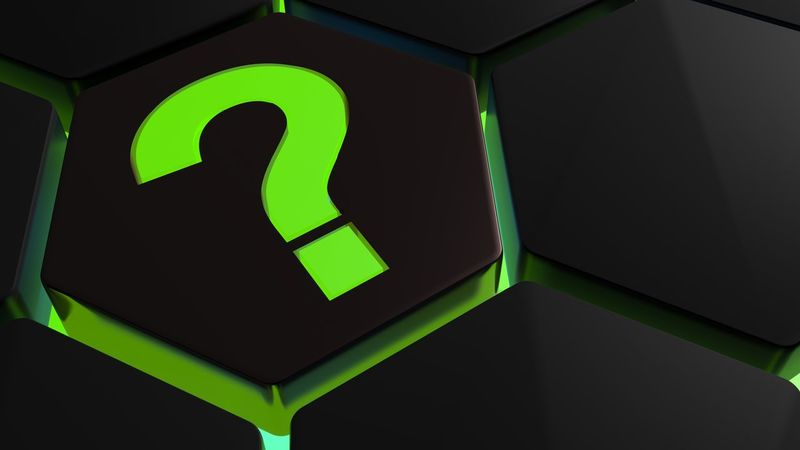 Green backlit question mark on black hexagon - 3D rendering 3D Green Icon Learning Sign Concept Hexagon Illuminated Illustration Information Internet Learning Photography Neon No People Question Question Mark Rendering Symbol Technological Technology