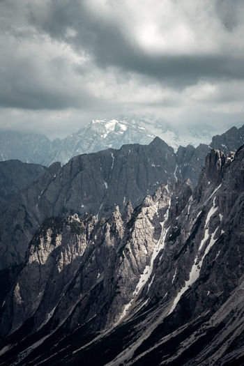 The Dolomites, Italy around the Tre Cime di Lavaredo. Mountain Cloud - Sky Sky Beauty In Nature Nature Scenics - Nature No People Outdoors Tranquil Scene Italy Dolomites Dolomites, Italy Tre Cime Di Lavaredo Drei Zinnen
