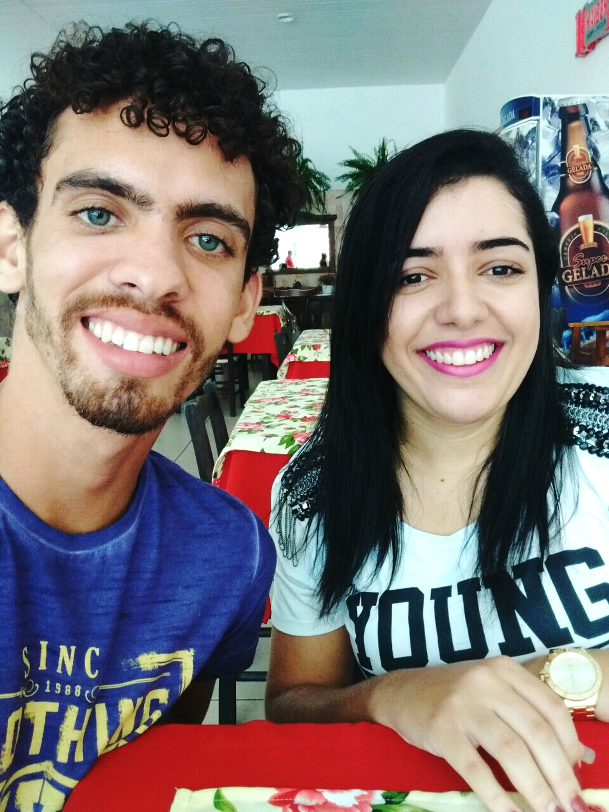 two people, looking at camera, portrait, young men, young adult, smiling, young women, real people, lifestyles, cheerful, men, togetherness, fun, adults only, friendship, people, adult, teamwork, close-up, day, outdoors