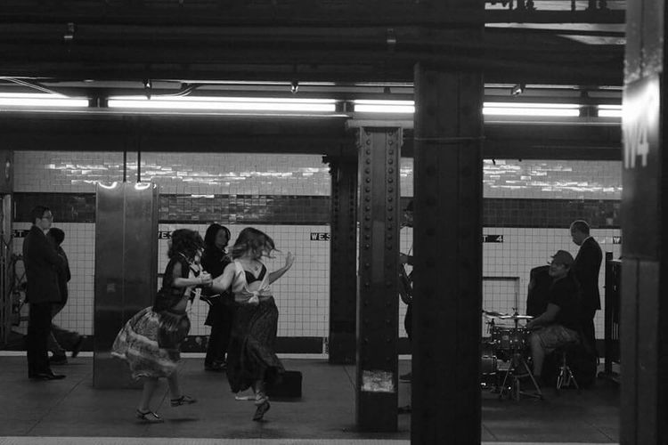 Up Close Street Photography Blackandwhite Photography NYC Photography 60d Canon MTA Commute Mta Nyc Transit Late Night Queens Dancing Dancing The Night Away NYC Street Photography NYC Subway Nycstreetart