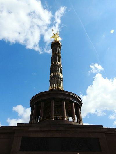 Architecture Cloud - Sky Travel Destinations Religion Sky Built Structure History Business Finance And Industry Travel Building Exterior Statue Day Blue Vacations City Outdoors No People Tree Cityscape Politics And Government Taking Photos Germany Berlin Deutschland Nikon