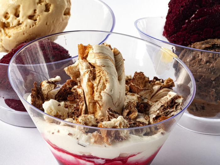 Close-up of ice cream in bowl