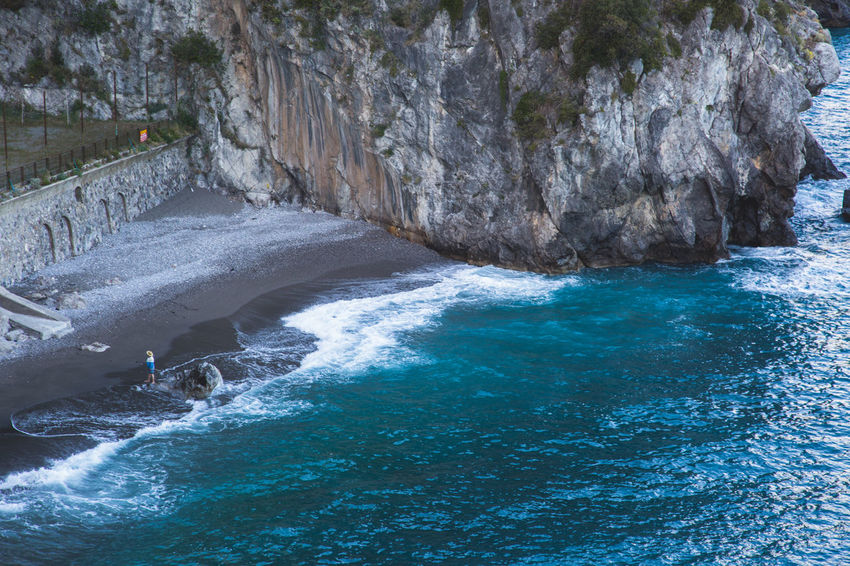 Amalfi Coast Beauty In Nature Blue Day Italy Lonely Oer Motion Nature No People Ocean Outdoors Person Scenics Sea Water Wave Waves