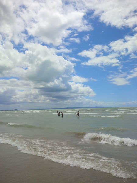 Beach Durres Albania Kosova Sea Summer ☀ Sun Sand People Weekend Relaxing Enjoying Life Taking Photos Hello World Waves Clouds And Sky