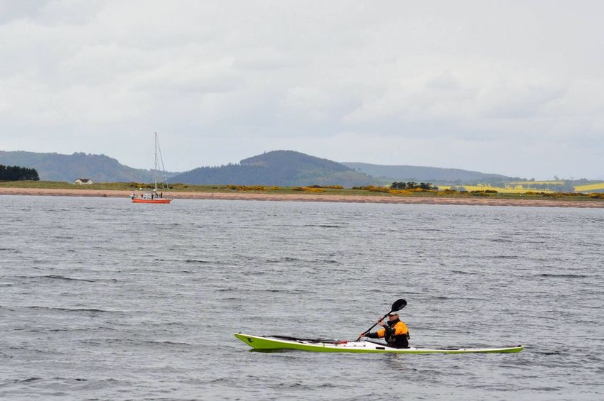 Oar Adventure Nautical Vessel Water Kayak Outdoors Leisure Activity Day One Person Sea Nature People Moray Firth Fort George Scotland Scottish Highlands