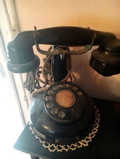 Telephone Old School Ancien Combine Allo Noir