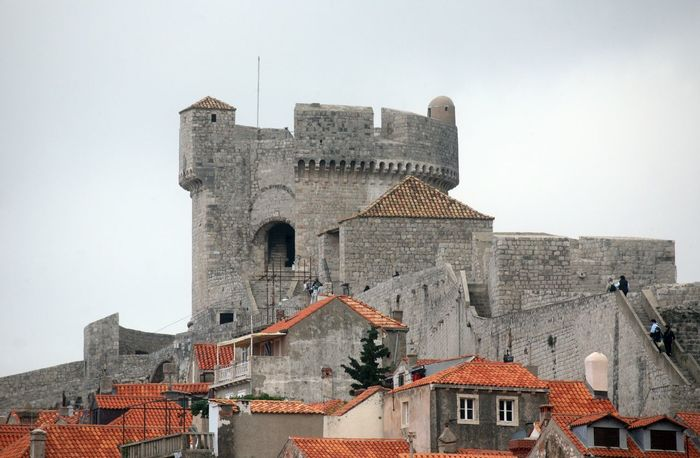 Minceta fort, Dubrovnik Adriatic Architecture Azure Blue Building Calm City Coast Croatia Dalmatia Dubrovnik Europe Fort Fortress Harbor House Medieval Mediterranean  Minceta Old Panorama Sea Stone Town Wall