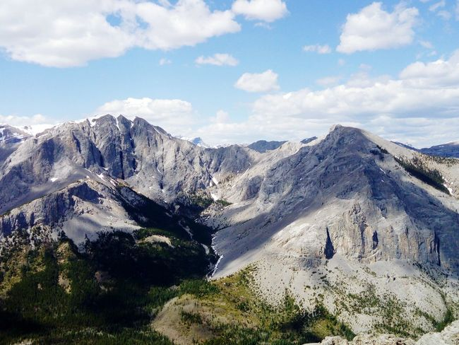 View from Yamnuska Summit Canadian Rockies  Yamnuska Panoramic View Panoramic Photography View From Yamnuska Summit Canmore Alberta Canada EyeEm Selects Mountain Sky Mountain Range Landscape Cloud - Sky Mountain Ridge Rocky Mountains Geology Eroded Rugged Rock Formation The Great Outdoors - 2018 EyeEm Awards