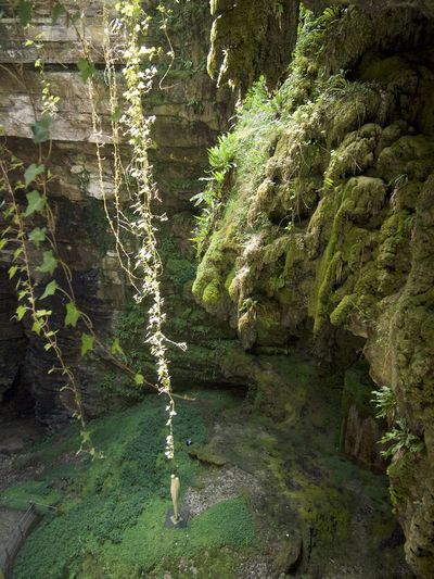 Chiasmia Clathrata France Industrial Industrial Photography Padirac Abyss Chasm Grotte Gulf Hole Metal And Stone