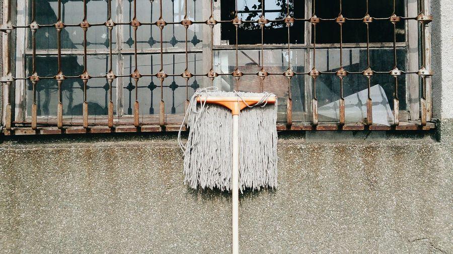 Mop by window