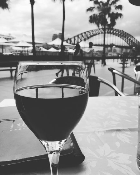 EyeEmNewHere Glass Of Red Wine Sydney Harbour Bridge
