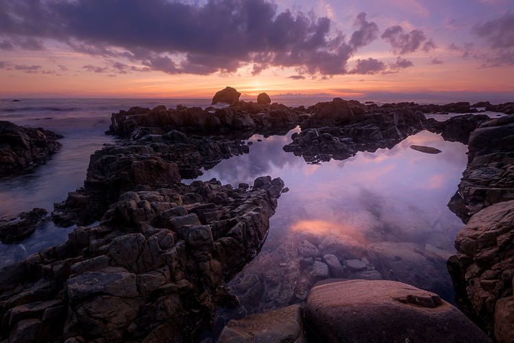 Beauty Beauty In Nature Cloud - Sky Dawn Day Landscape Long Exposure Nature No People Outdoors Rock - Object Scenics Sky Sunset Tranquil Scene Tranquility Tree Water