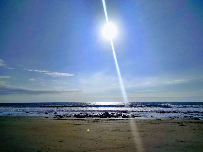 Om the beach Water Sea Beach Sand Wave Sky Horizon Over Water