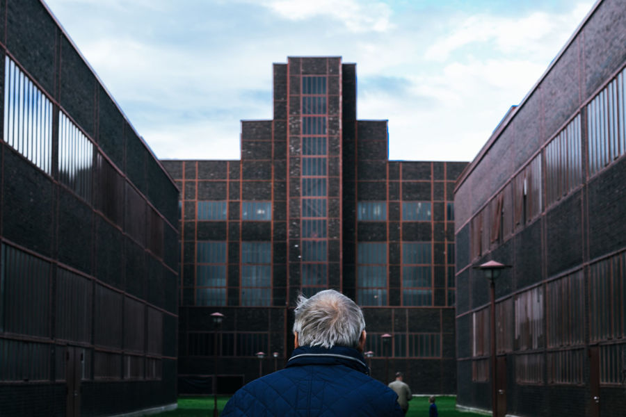 Rear View One Person Headshot Building Exterior Outdoors Architecture Industrial City