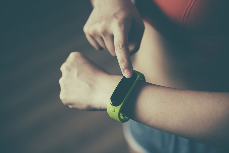 Body Part Checking The Time Close-up Day Exercising Fit Fitness Focus On Foreground Hand Healthy Lifestyle Human Body Part Human Hand Indoors  Lifestyles Men Midsection One Person Real People Smart Watch Sport Stopwatch Time Watch Women Wristwatch