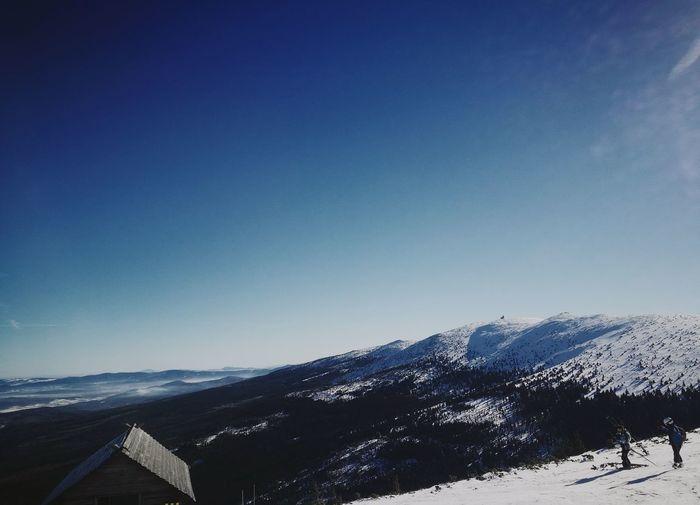 Blue Sky Mountain Nature Beauty In Nature Landscape Snow Skiing 🎿 Szrenica Szklarska Poręba