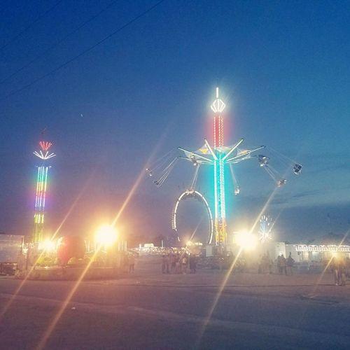 Night Illuminated Outdoors No People Sky Fair Fun Awesome_nature_shots Faraway Look Weekend Fun Rides At Fair Rides Rides And Sky