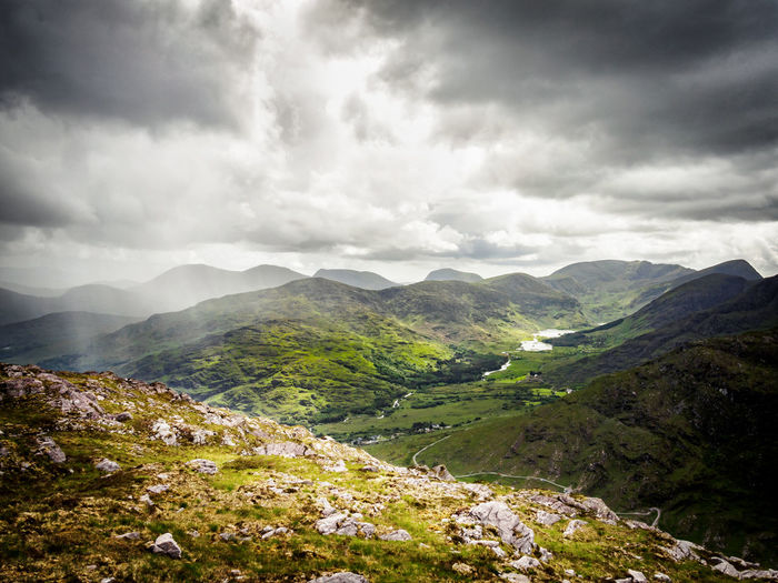 Black Valley from Purple Mountain 🏞 Dark Clouds Dunkerron Mountains Green Hiking Ireland Landscape_Collection Beauty In Nature Black Valley Cloud - Sky County Kerry Day Landscape Mountain Mountain Range Mountain Ranges Nature No People Outdoors Overcast Purple Mountain Scenics Sky Tranquil Scene Tranquility The Week On EyeEm Lost In The Landscape