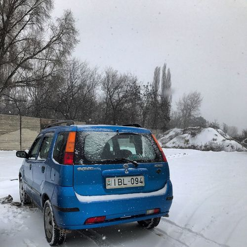 🌨❄️❄️🚗 Suzuki Ignis Ignis Suzuki Blue Winter Smowing Car Transportation Land Vehicle Mode Of Transport No People Road Day Outdoors Snow Sky Nature
