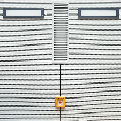 Alarm mounted on wall