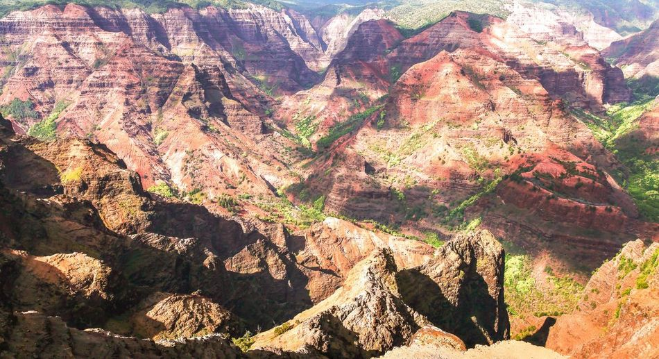 Rock - Object High Angle View Mountain Scenics Tranquil Scene Beauty In Nature Nature Landscape Mountain Range Hawaii