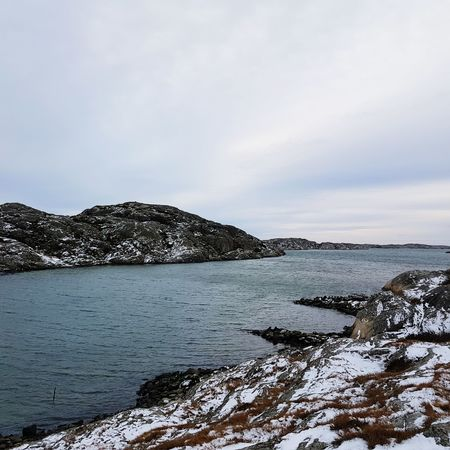 Landscape Outdoors No People Sky Nature Day Walking Life Is Good Freedom Sweden Soulsearching Hikingadventures Ocean Skärhamn Cold Snow Water Textures And Surfaces Travel