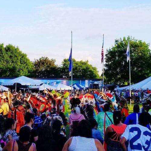 Make a Grand Entry Large Group Of People Multi Colored Adult Sky Outdoors Celebration Native American Indian Native Pride POWWOW TIME