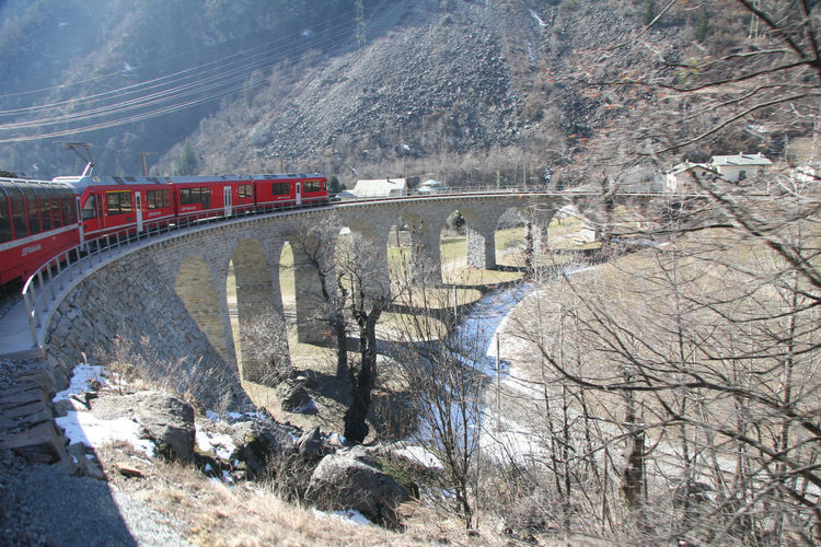 The Bernina Express panoramic train is the highest mountain railway in the Alps. The section between Thusis and Tirano has been classed as a UNESCO World Heritage site. http://pics.travelnotes.org Alpine Landscape Bernina Express Bridge Chur Davos Engineering Human Meets Technology Landscape Michel Guntern On The Way Red Train Rhätische Bahn Snow Train Transportation Travel Travel Photography Travel Photos Travel Pics UNESCO World Heritage Site Viaduct White Background Winter Winter Travel Let's Go. Together.
