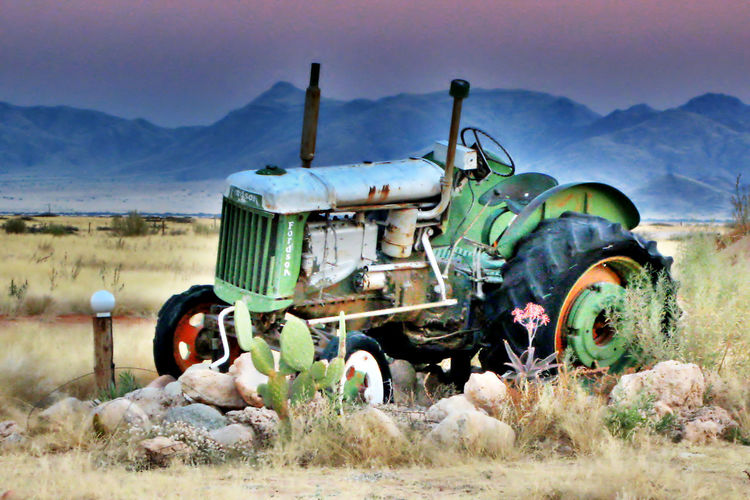 Retirement Tractors Abandoned Mode Of Transport Landscape Transportation Land Vehicle Mountain Outdoors No People