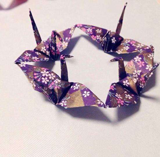 朝ドラみたいに綺麗にには出来ないけど母と一緒に作ってみた! 鶴 Crane Origami おりがみ 折り鶴 Japanese Culture